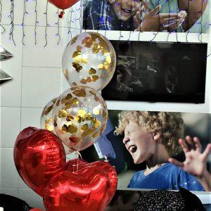 шарик сердце в шаре, шарик херсон, сердца шары херсон, купить шарики в Херсоне, аэродизайн херсон