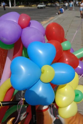 Цветы из воздушных шаров! Просто загляденье!!!