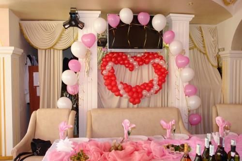 Гирлянда из гелиевых шаров прекрасный способ украсить свадьбу