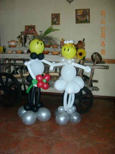фигуры из воздушных шаров заказать в Херсоне, оригинальное оформление свадеб в Херсоне