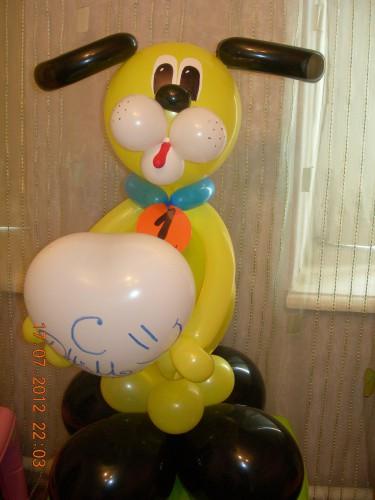 собака из воздушных шаров купить в Херсоне, подарок на день рождения из воздушных шаров