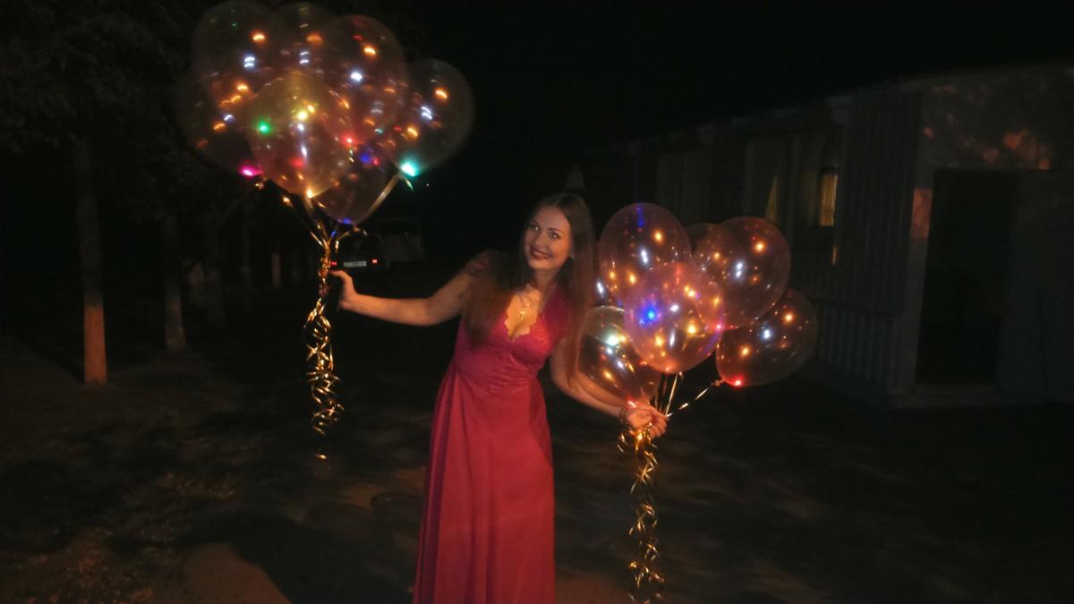 купить гелиевые шарики в Херсоне, светящийся гелиевый шарик