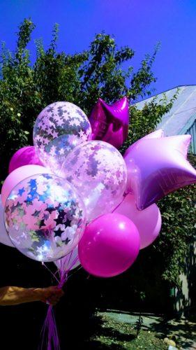 фольгированые шары херсон, фольгированная звезда херсон, шарики с конфетти херсон