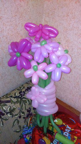 цветы из воздушных шаров Херсон, оформление шарами херсон