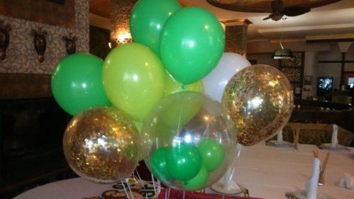 шар в шаре херсон, шарик со звездами херсон, доставка гелиевых шаров херсон