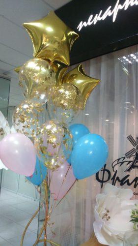 фольгированные звезды херсон, гелиевые шарики херсон, шары с конфетти херсон, дотсавка шаров херсон