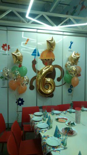 фольгированные цифры херсон, шарики для дня рождения херсон, оформление шарами херсон, фольгированные звезды херсон
