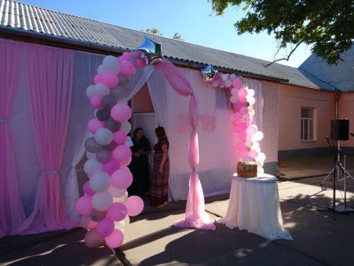 шары на выпускной херсон, оформление воздушными шарами херсоне, гелиевые шары для школ