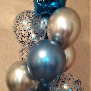 букет из шаров Херсон, звезда с поздравлениями, шары хром, доставка шаров Херсон
