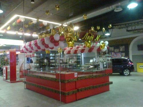 Фольгированные звезды купить в Херсоне, оформление фольгированными шарами офисов в Херсоне